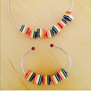 Jewelry - Wire chocked and bracelets set
